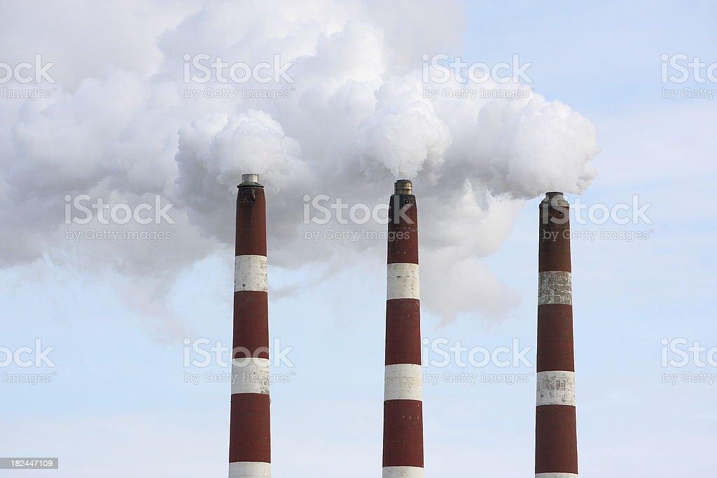 Smoking Smoke Stacks stock photo
