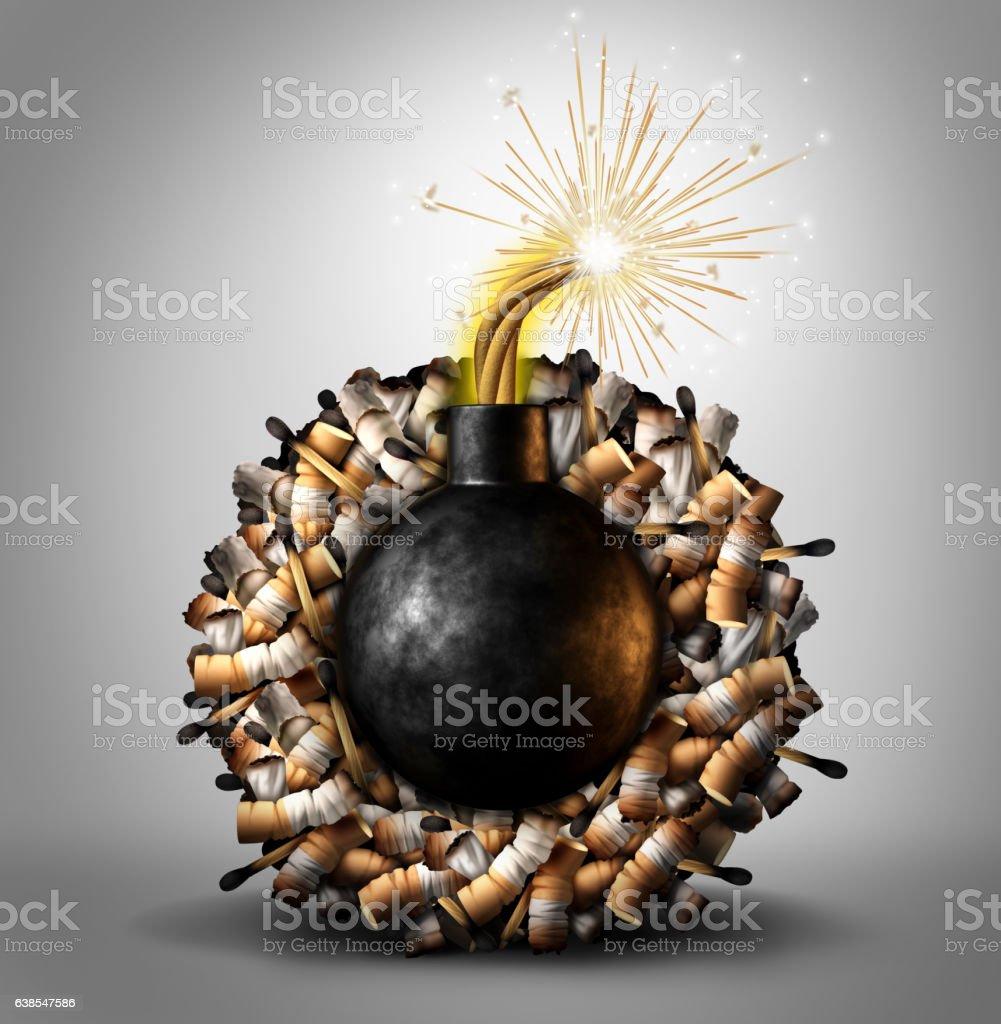 Smoking Time Bomb stock photo
