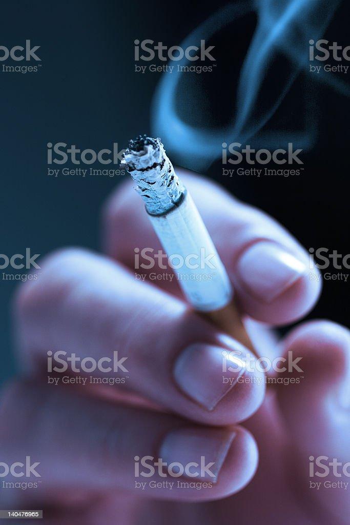 Smoking too stock photo