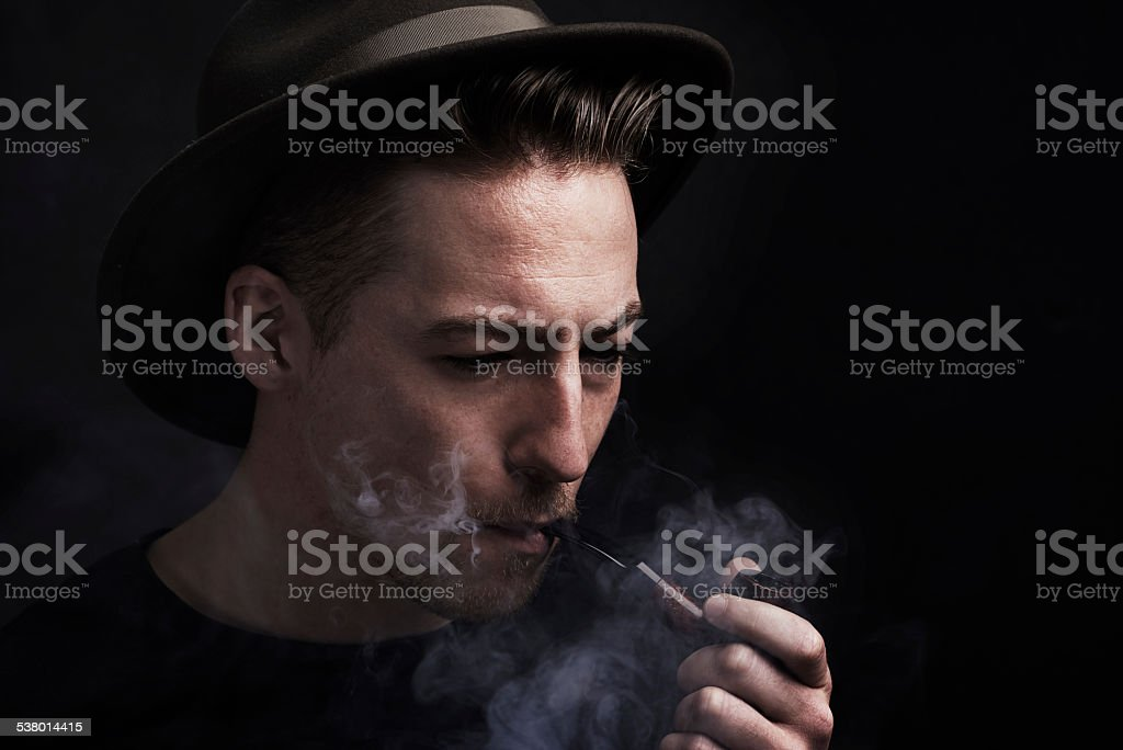 Smoking up a storm stock photo