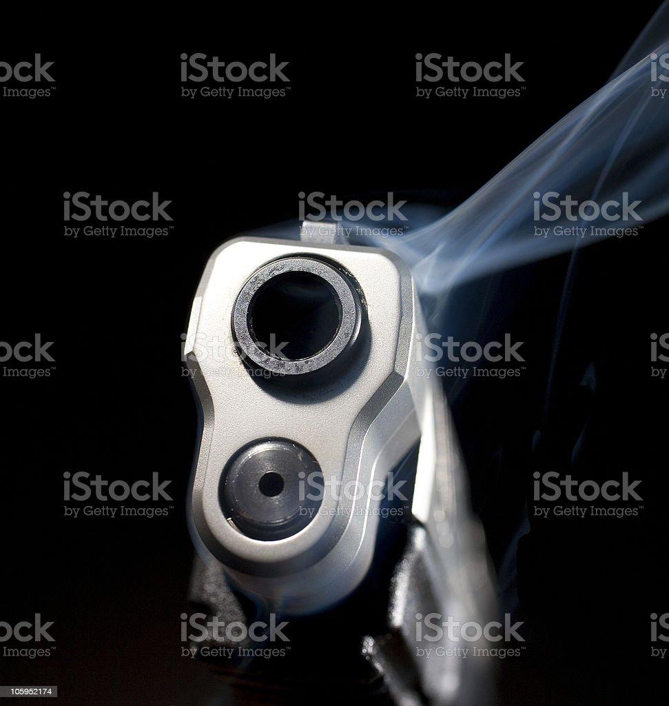Smoking weapon royalty-free stock photo