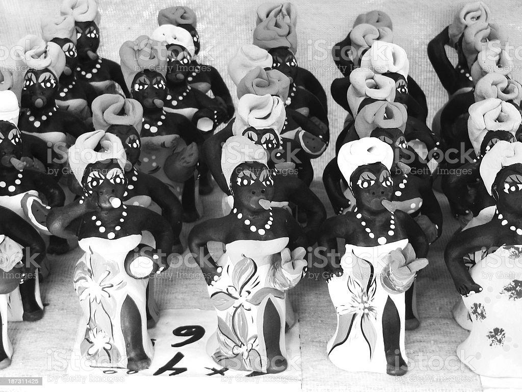 Smoking women dolls - Cuban souvenier royalty-free stock photo
