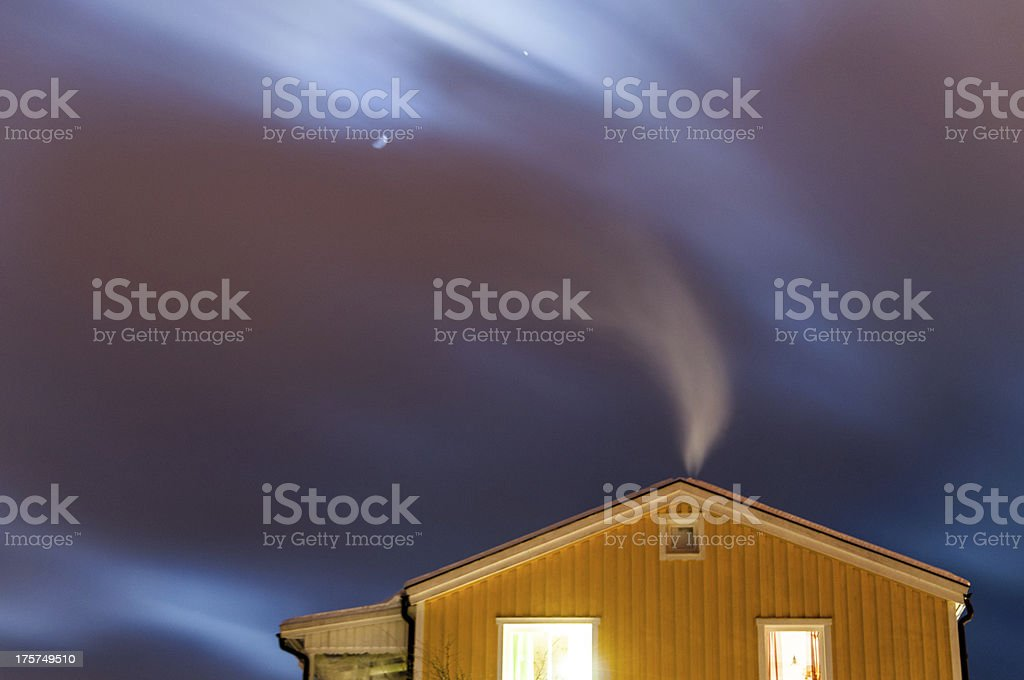Smoky Cottage stock photo