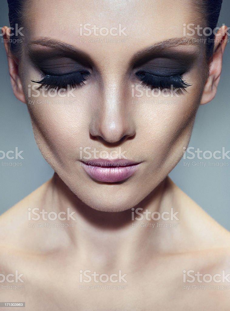 Smoky eyes stock photo