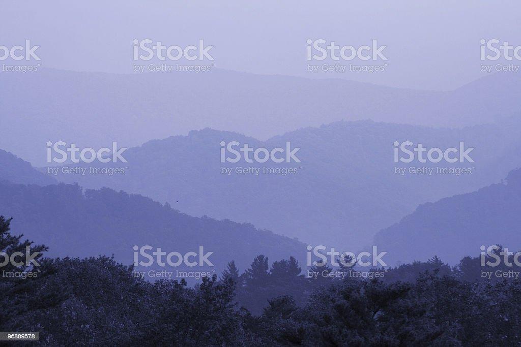 Smoky Mountain Blue royalty-free stock photo
