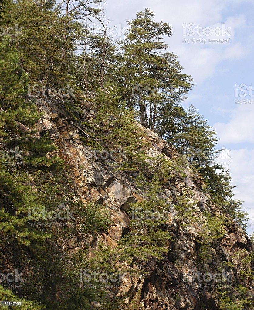 Smoky Mountain cliffs royalty-free stock photo