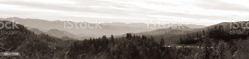 Smoky Mountain Panorama stock photo