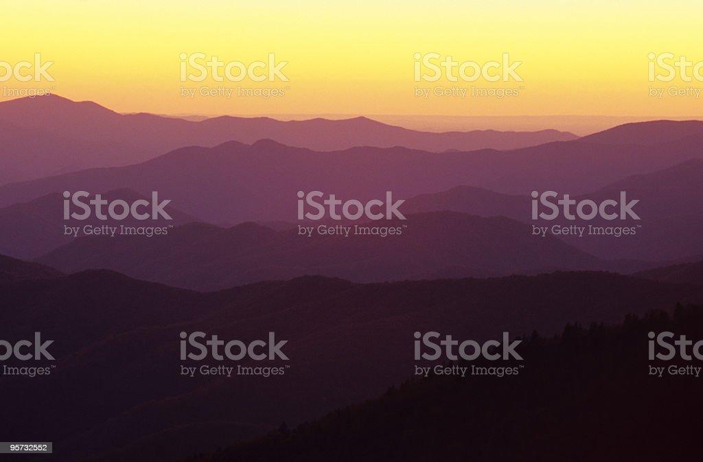 Smoky Mountain Ridges royalty-free stock photo