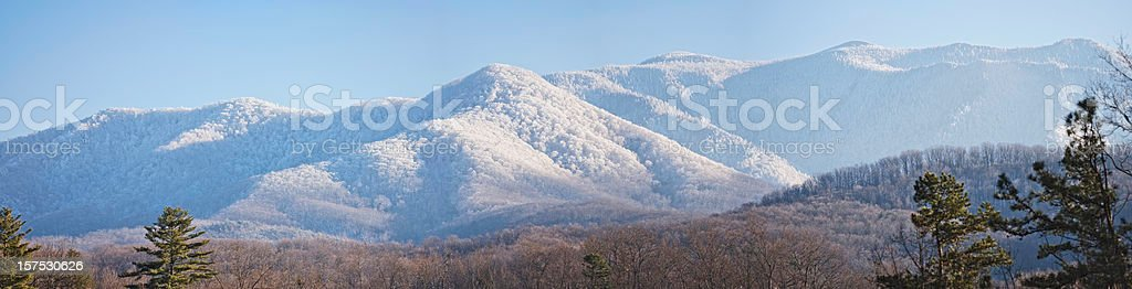 Smoky Mountain Snowfall (XXXL) stock photo