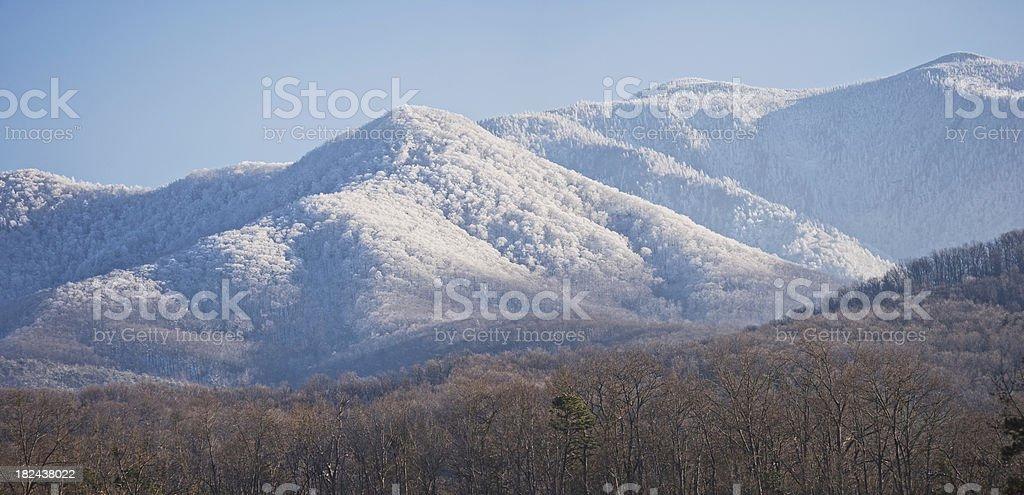 Smoky Mountain Snowfall (XXXL) stock photo
