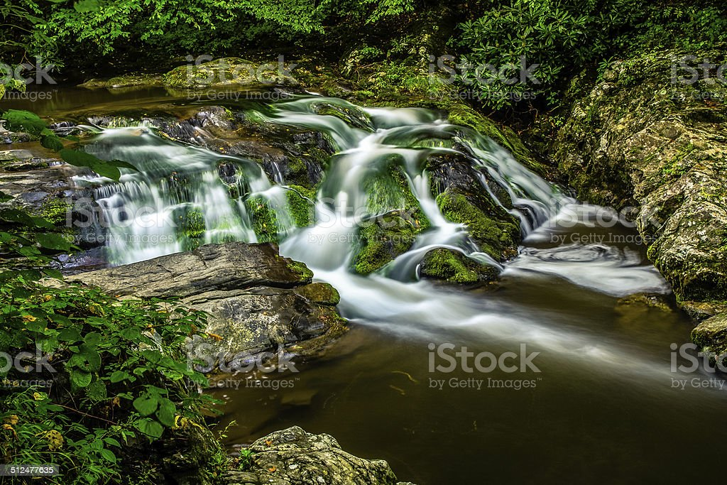 Smoky Mountain Stream stock photo