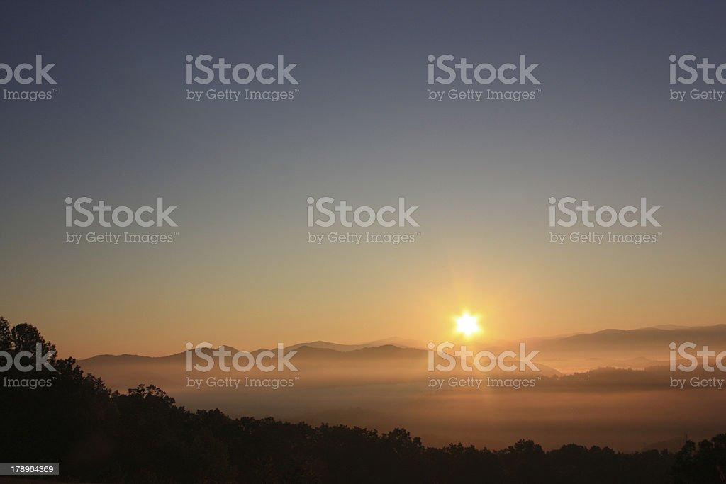 Smoky Mountain Sunrise I stock photo