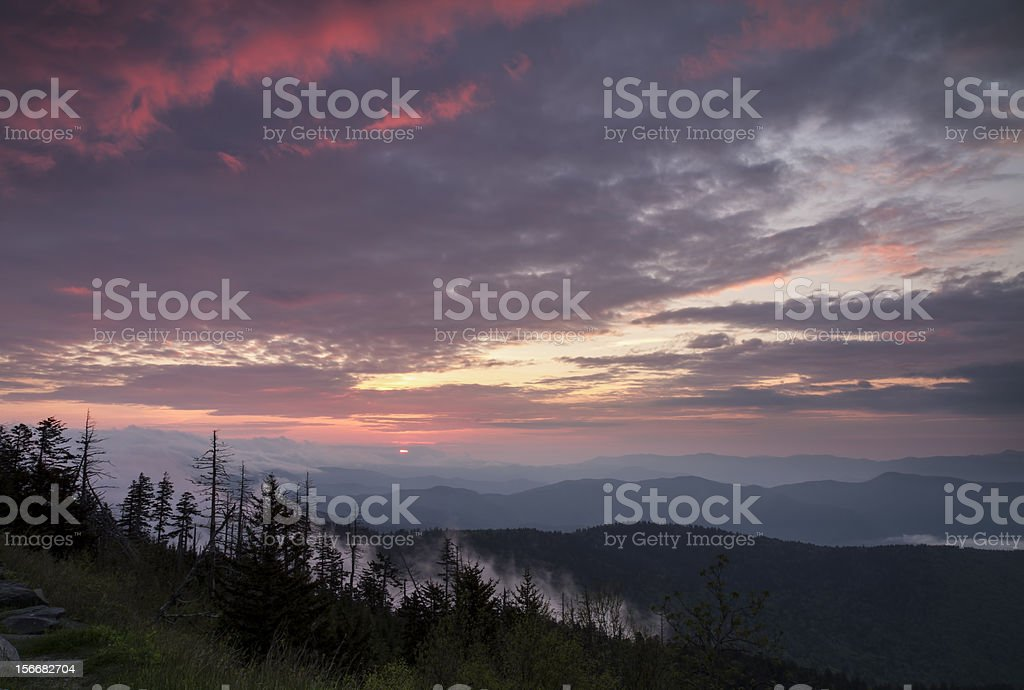 Smoky Mountain Sunrise royalty-free stock photo