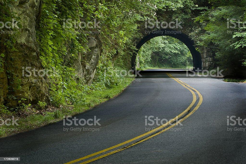 Smoky Mountain Tunnel royalty-free stock photo