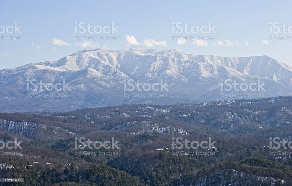 Smoky Mountain Winter royalty-free stock photo
