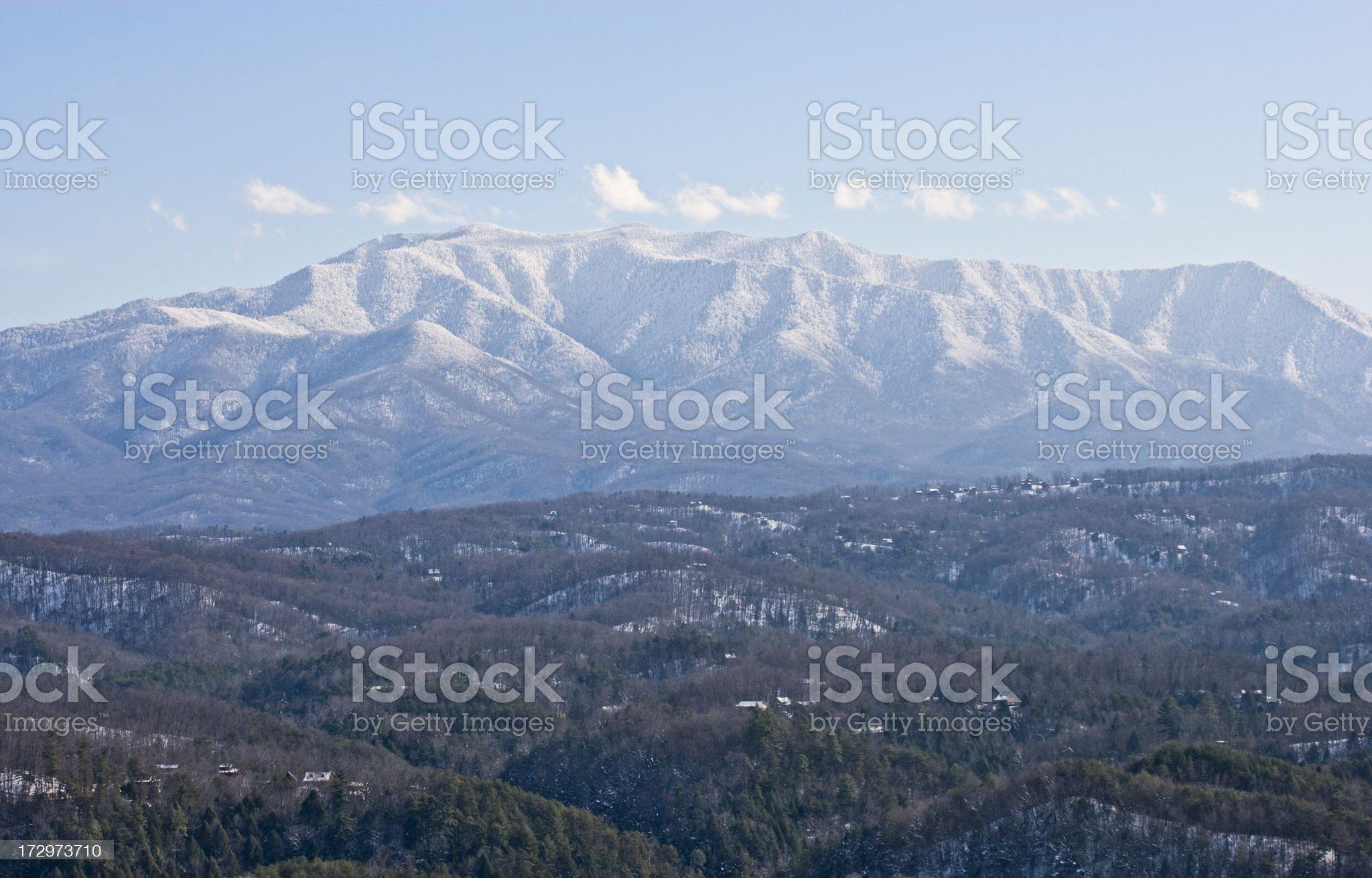 Smoky Mountain Winter royalty-free stock photo