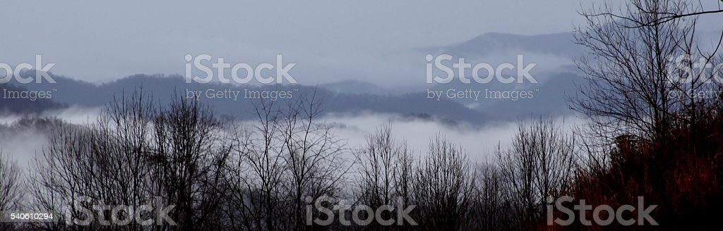 Smoky Mountains and Storm Clouds stock photo