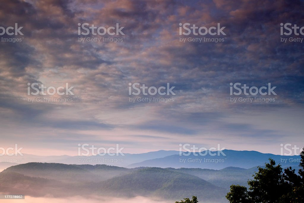 Smoky Mountains at Dawn stock photo