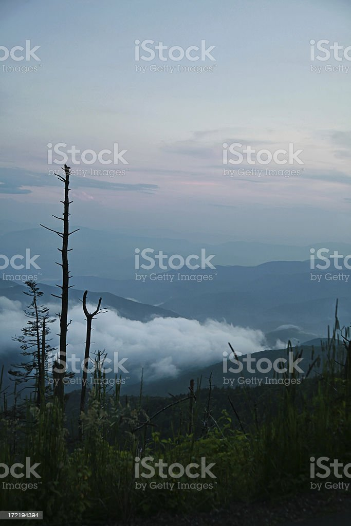 Smoky Mountains at Sunset royalty-free stock photo