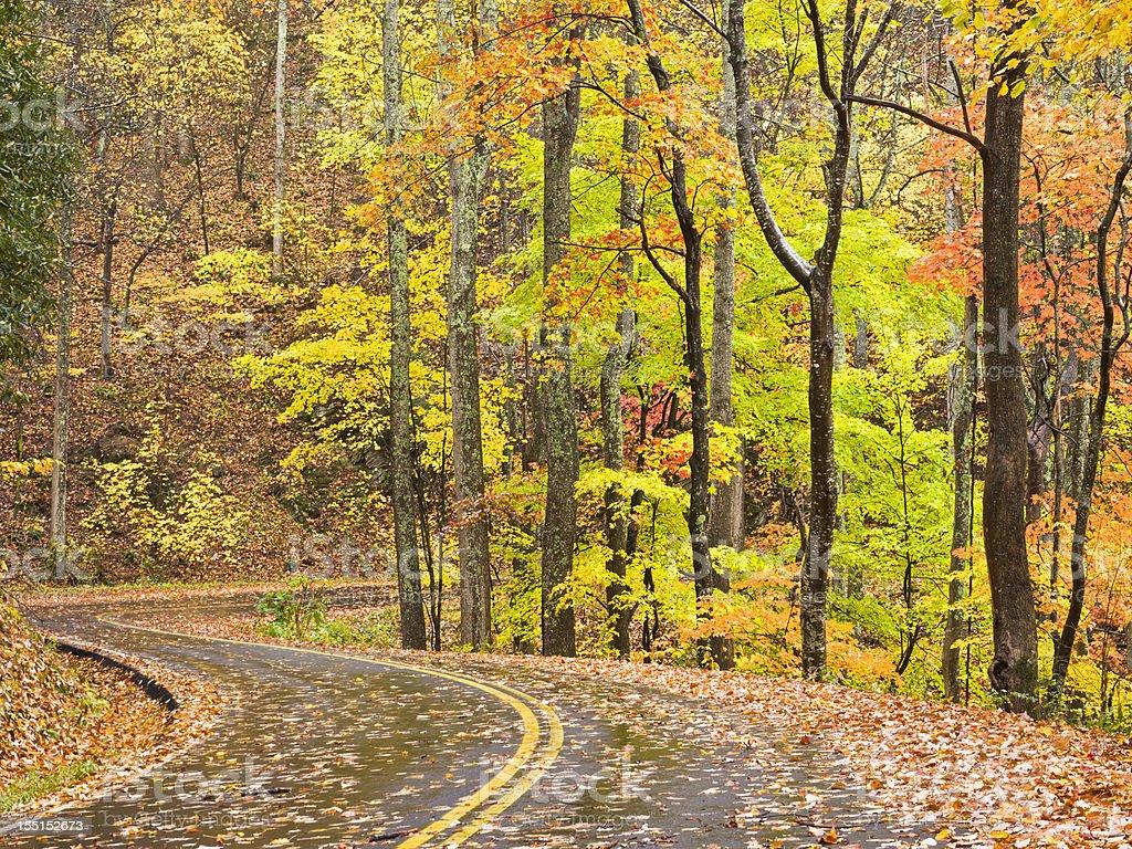 Smoky Mountains Autumn Roads Series royalty-free stock photo
