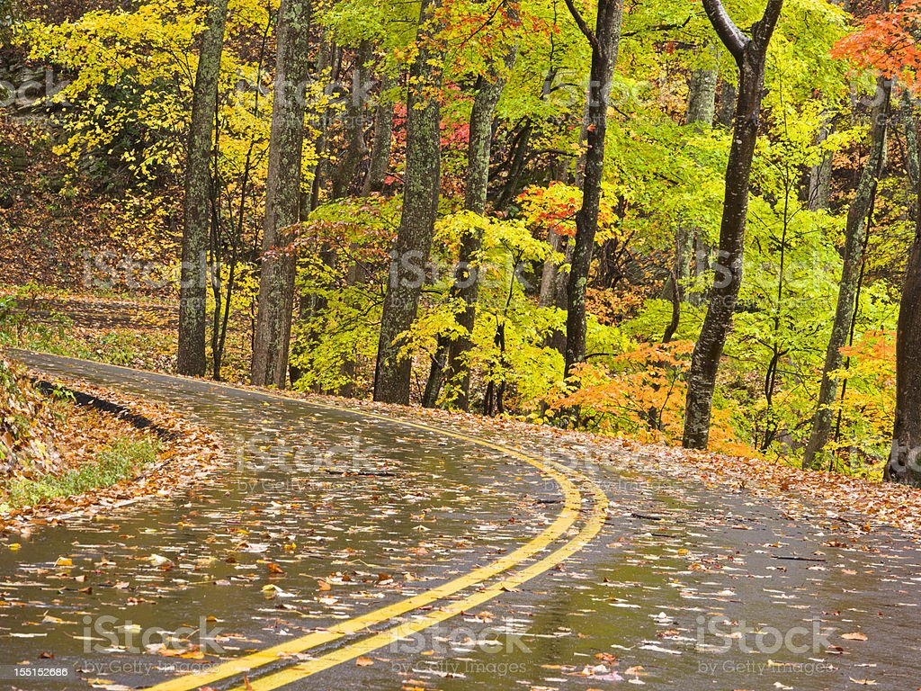 Smoky Mountains Autumn Roads Series stock photo