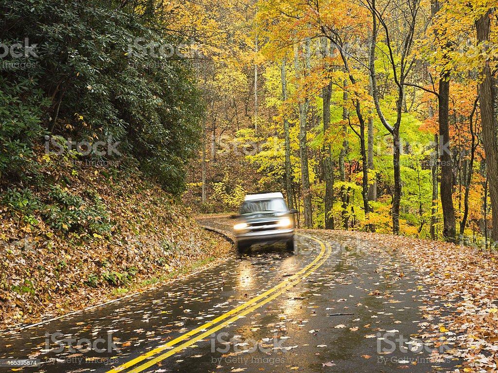 Smoky Mountains Autumn Roads Series stock photo