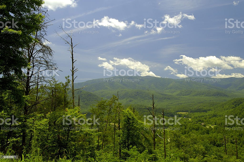 Smoky Mountains Foothills Parkway East stock photo