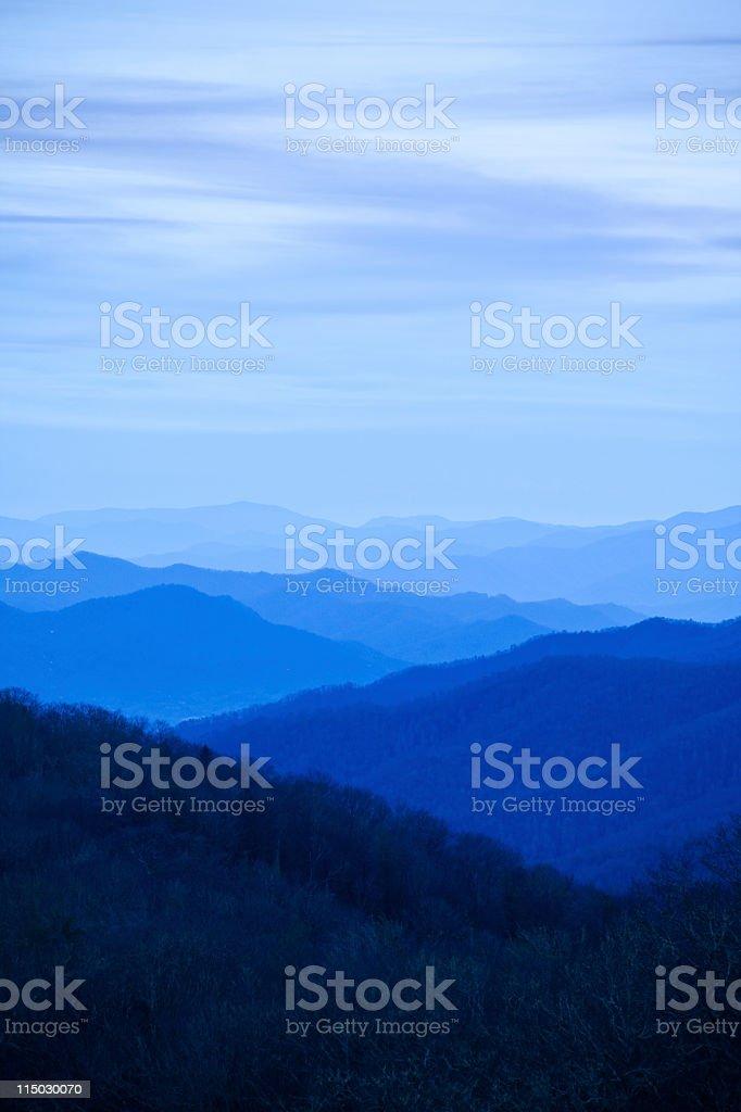 Smoky Mountains Golden Hour stock photo
