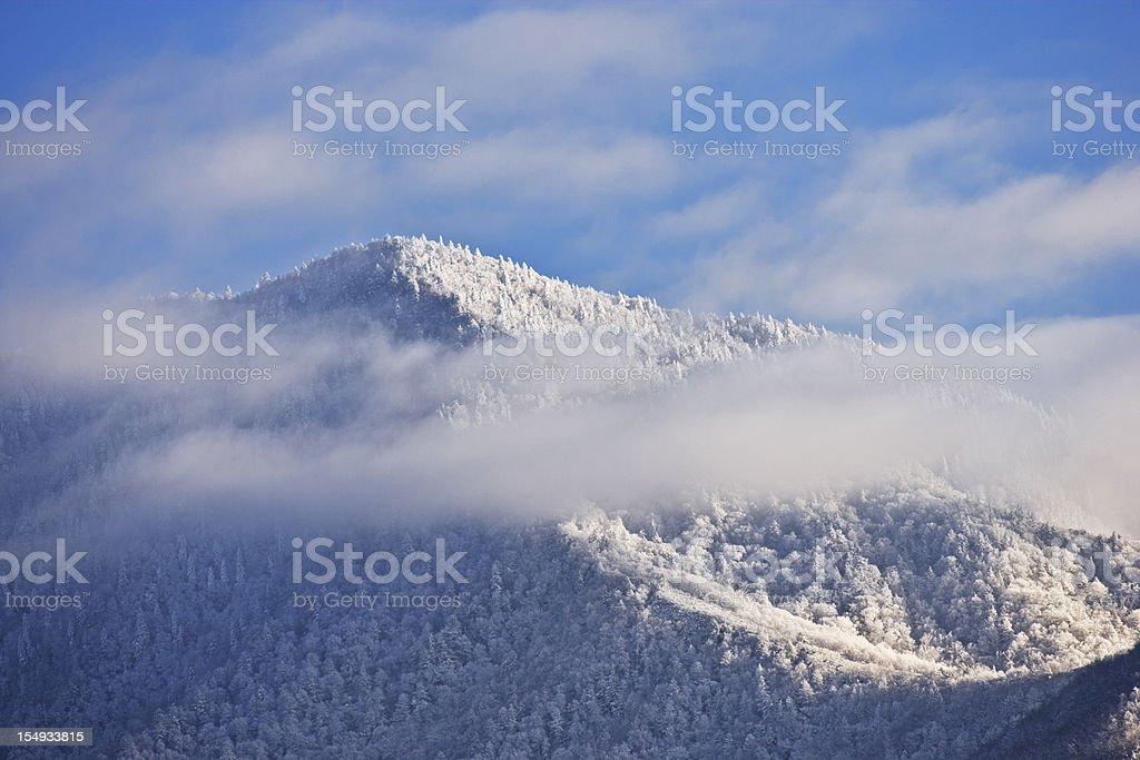 Smoky Mountains in Winter stock photo