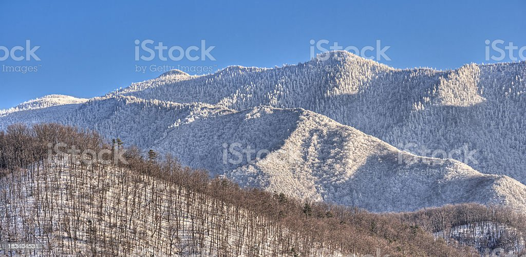 Smoky Mountains in Winter stock photo