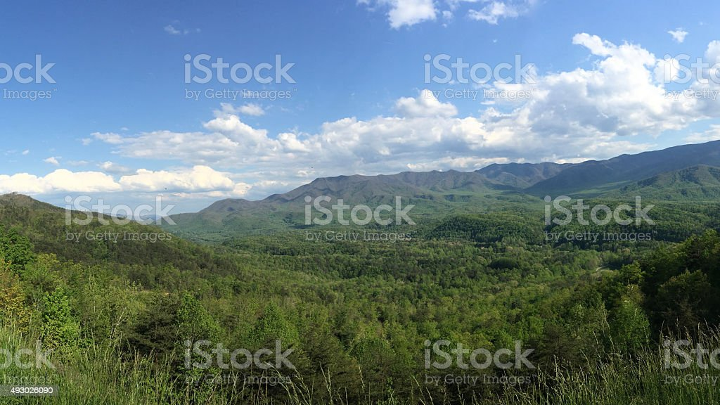 Smoky Mountains Landscape North Carolina stock photo