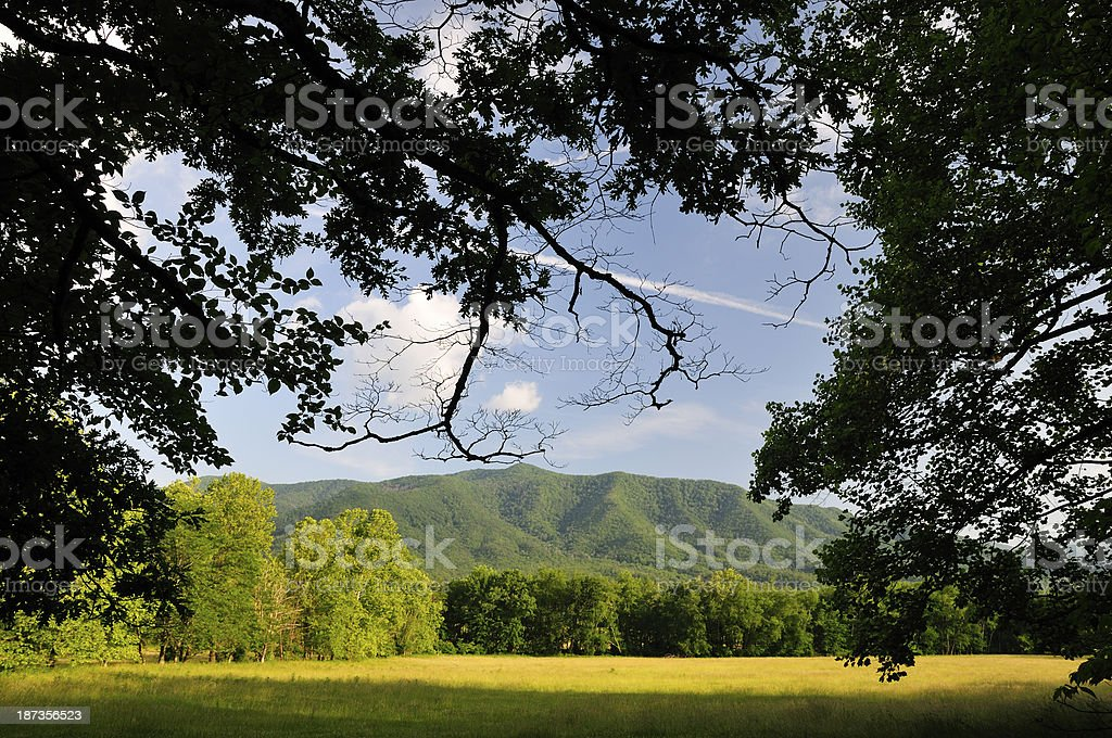Smoky Mountains National Park, Cades Cove in Late Spring stock photo