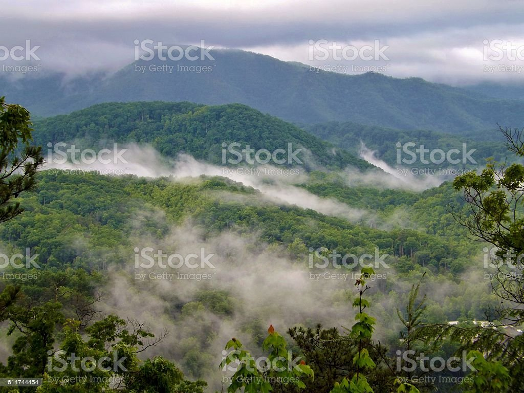 Smoky Mountains of Tennessee stock photo