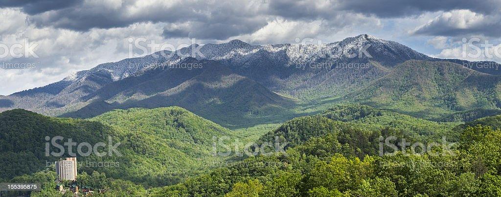 Smoky Mountains Springtime Panorama royalty-free stock photo