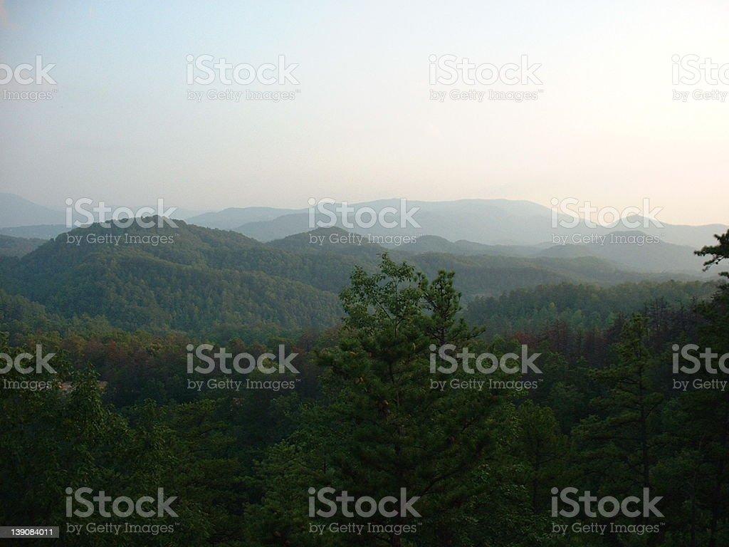 smoky mountaints royalty-free stock photo