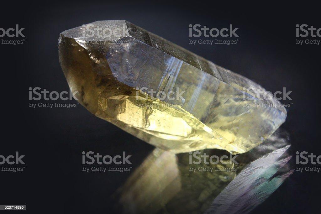 Smoky Quartz crystal stock photo