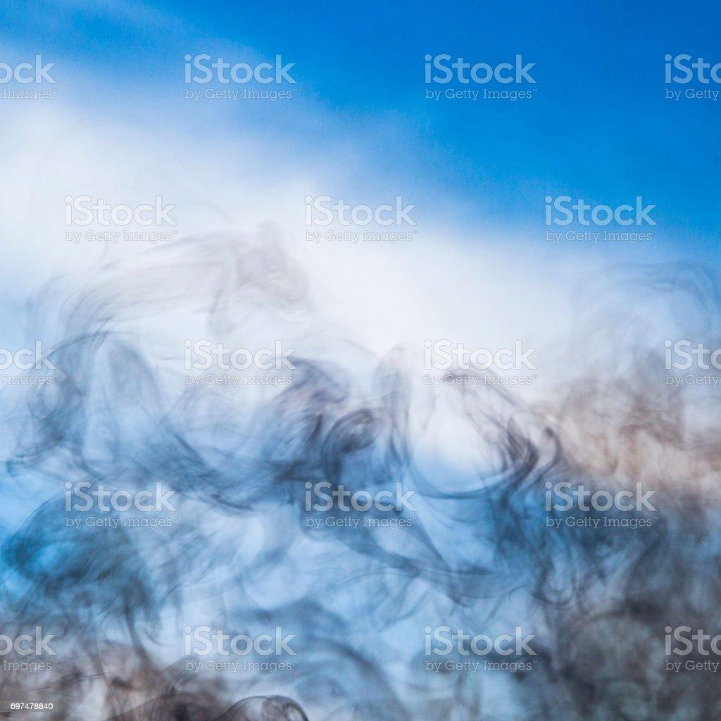 Smoky sky stock photo