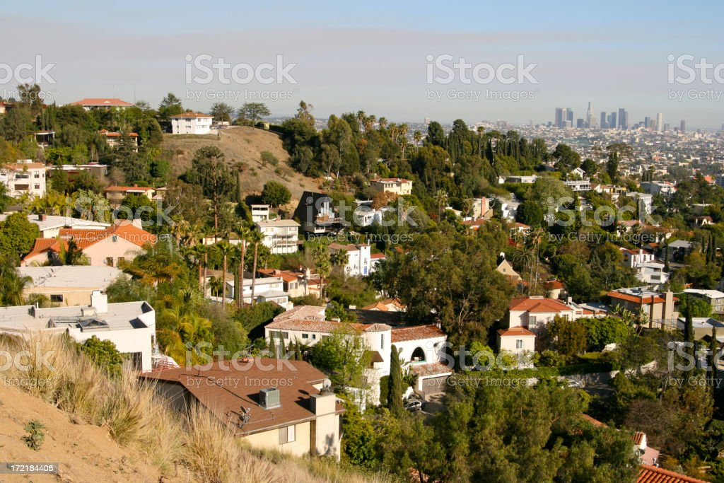 Smoky Smoggy Day in LA stock photo
