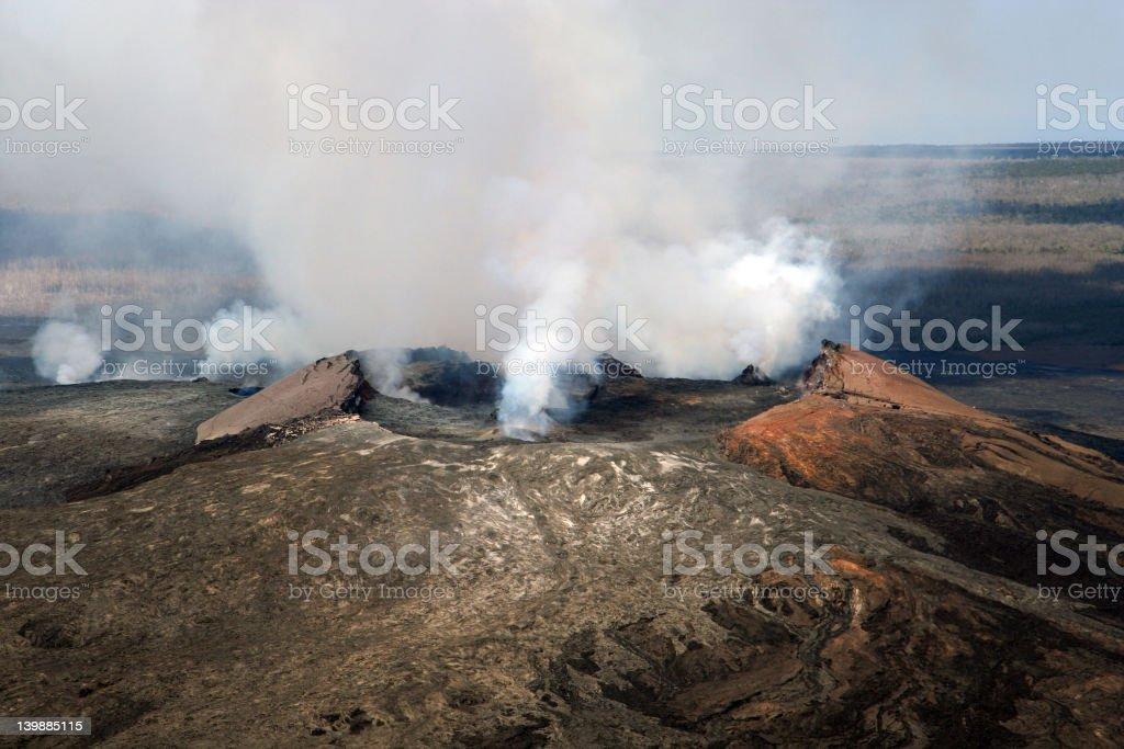 Smoldering Volcano stock photo