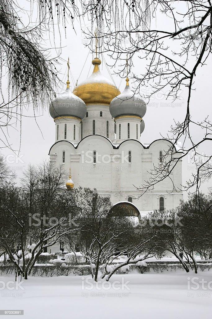 Smolensky Orthodox cathedral royalty-free stock photo