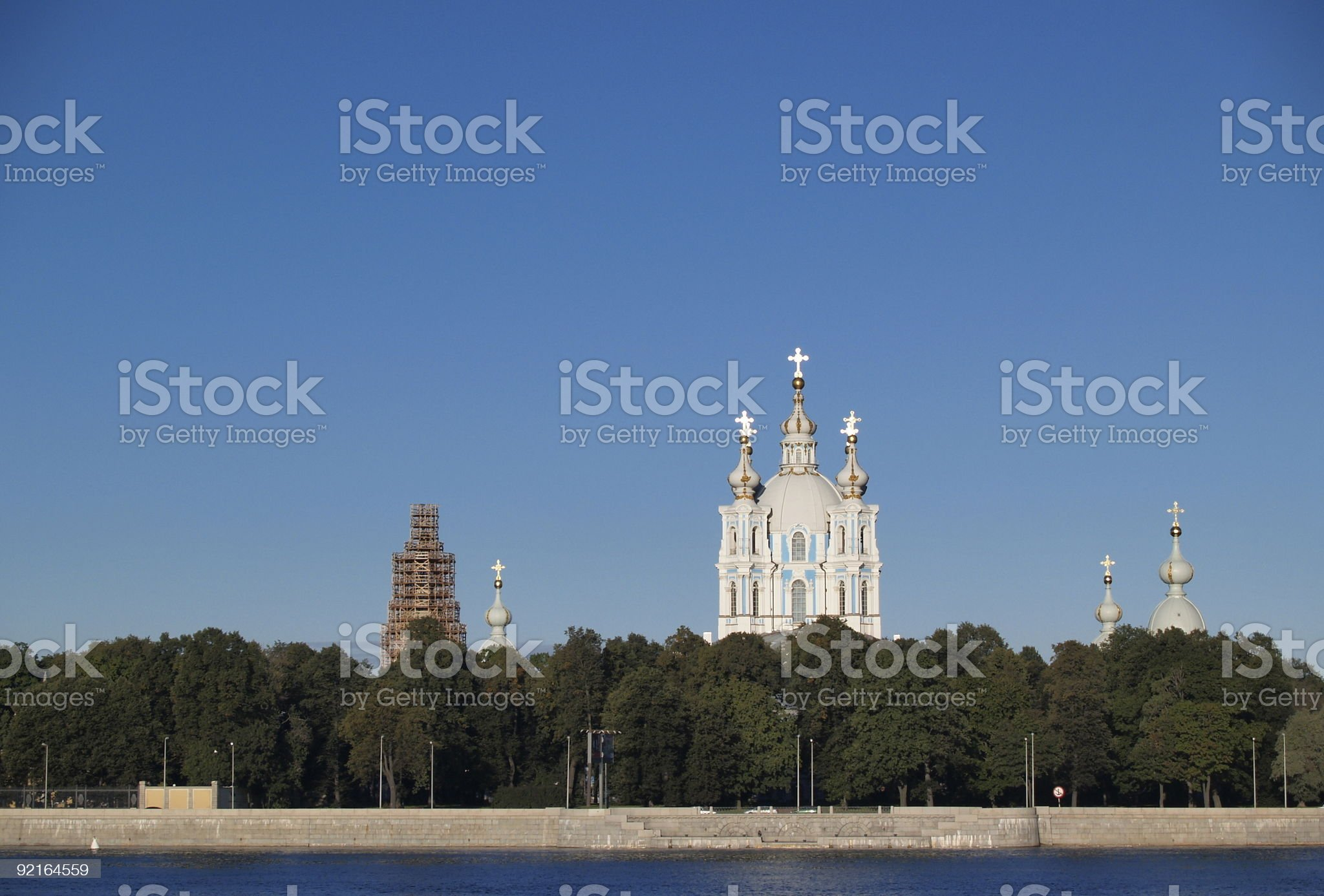 Smolny Cathedral, St. Petersburg, Russia royalty-free stock photo