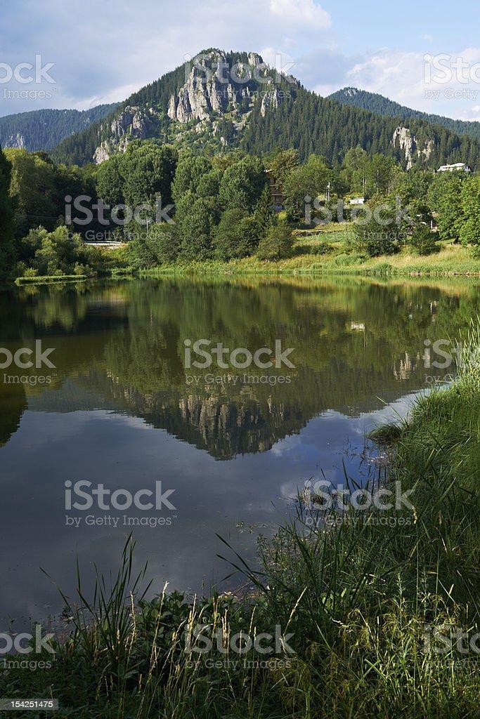 Smolyan lake scenery, Bulgaria stock photo