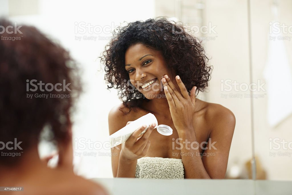 Smooth and moist without the hint of a blemish! stock photo