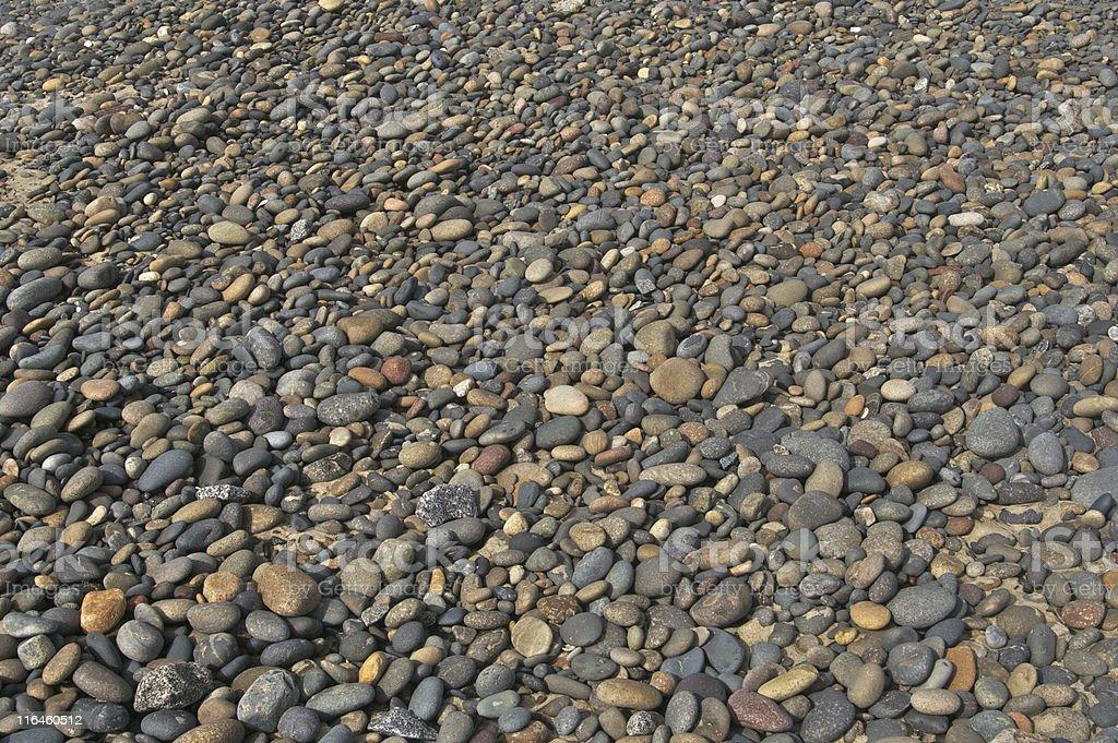 Smooth Beach Rocks Background stock photo