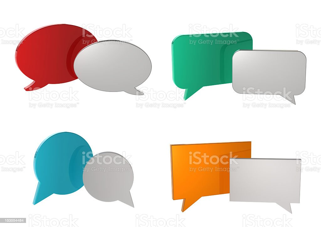 Smooth Chat Bubbles royalty-free stock photo