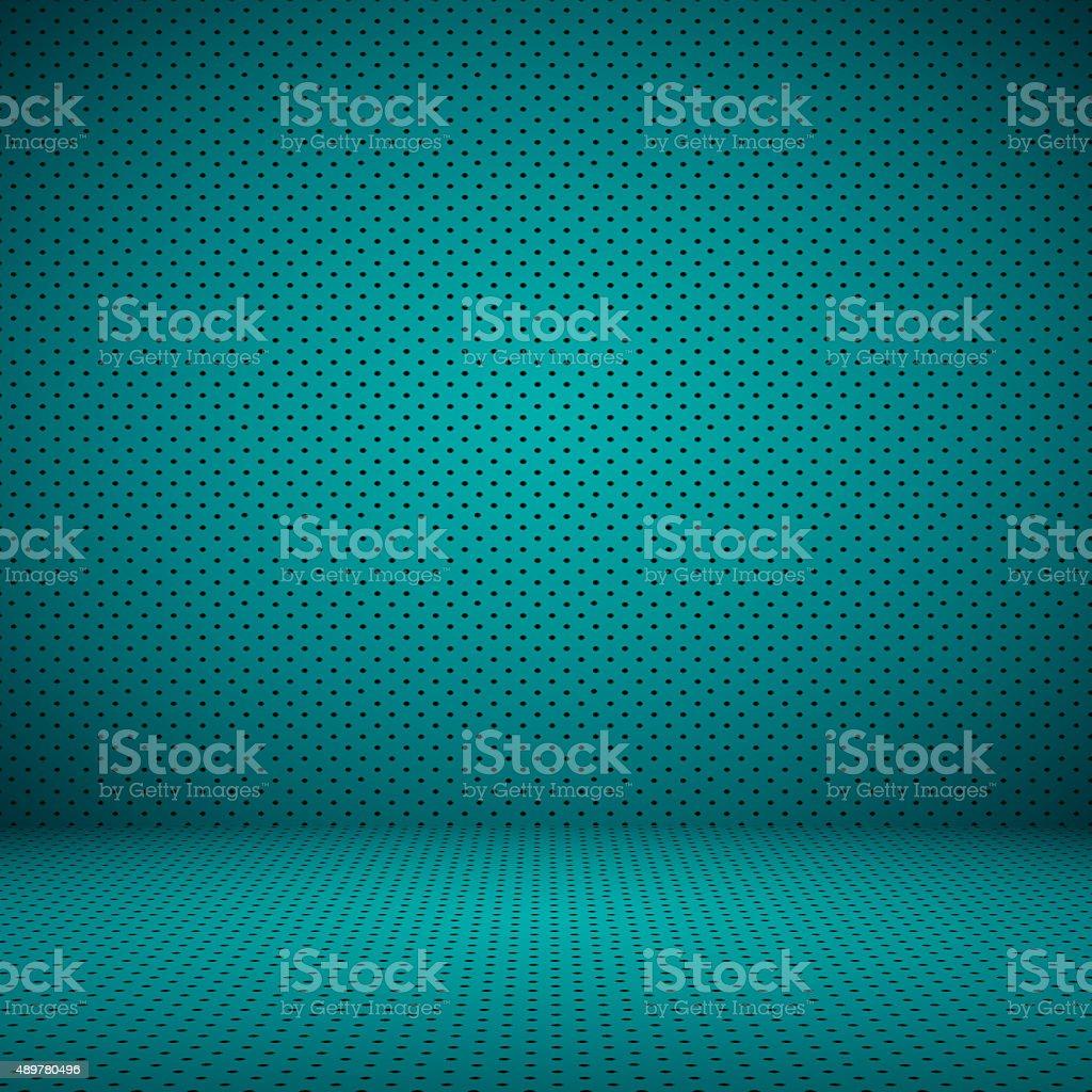 Smooth Dark blue with Black vignette and Black Polka dot. stock photo
