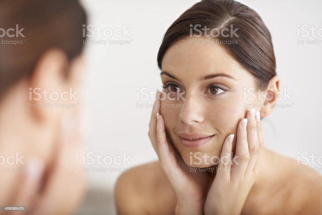 Smooth, flawless skin stock photo