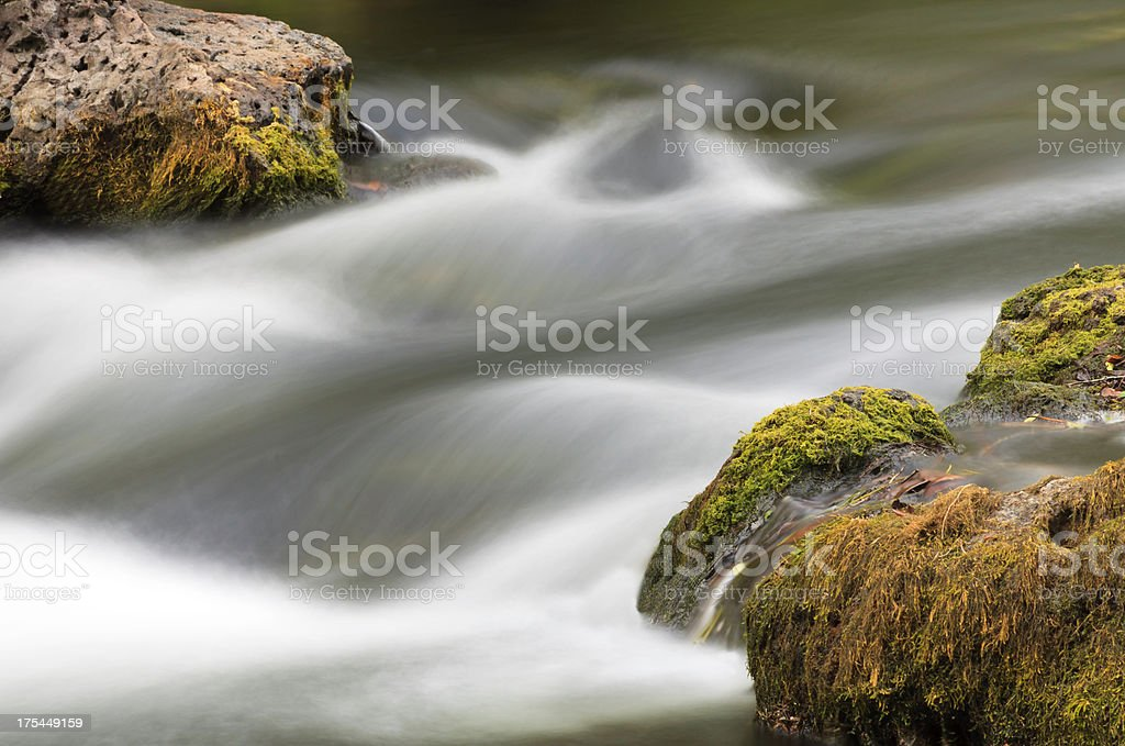 Smooth Flowing River Rapids stock photo