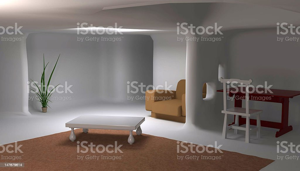 Smooth Interior royalty-free stock photo