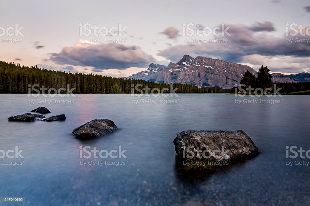 Smooth Lake - Banff National Park stock photo